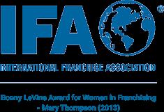 Mary Thompson won the 2013 Bony LeVine Award at the International Franchise Association